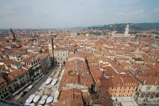 Verona from La Torre dei Lamberti (Lamberti Tower) in Piazza Erbe