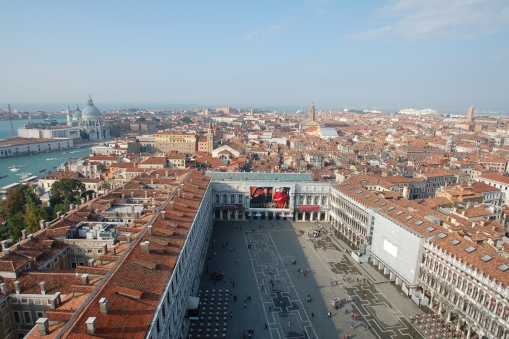 Venice from the Campanile (bell tower) in Piazza San Marco