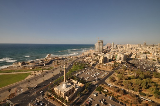 A view of Tel Aviv from our hotel