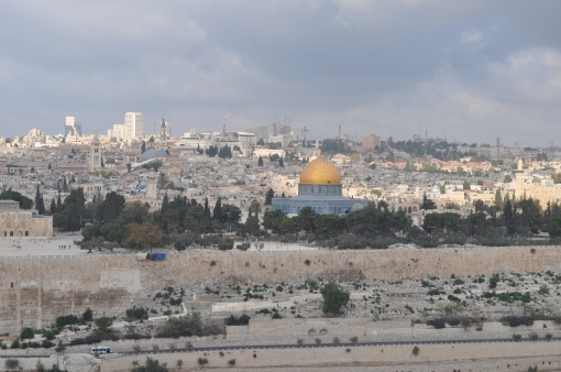 A view of Jerusalem from Mt of Olives
