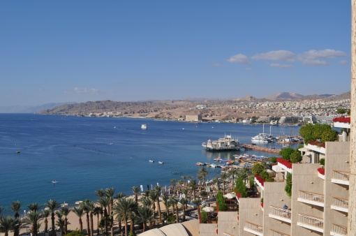 A view of Eilat from our hotel
