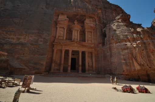 Nebatean carvings in Petra, Jordan