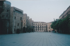 Square in Barcelona - no people