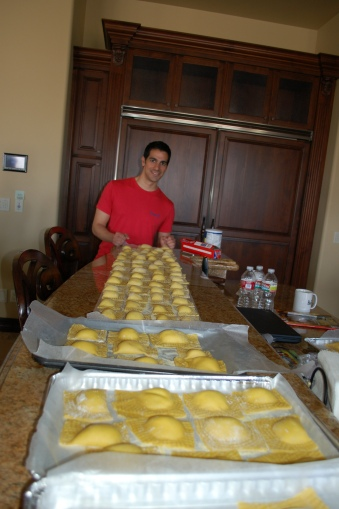 Some of the ravioli we made