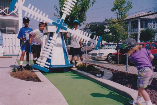 Miniature Golf with our children - 1993